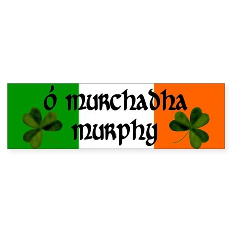 Murphy in Irish & English Bumper Sticker