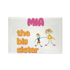 Mia - The Big Sister Rectangle Magnet