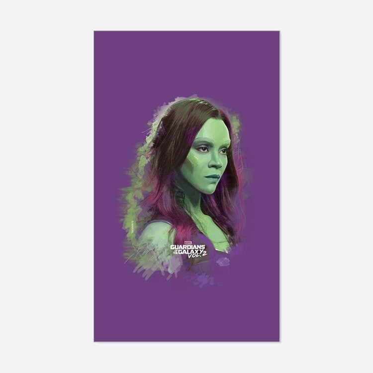 GOTG Gamora Portrait Sticker (Rectangle)
