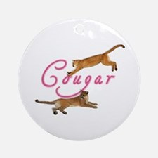 Sexy Cougar Woman Ornament (Round)
