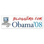 Bloggers for Obama Bumper Sticker (10 pk)