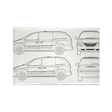 Chrysler Voyager Rectangle Magnet