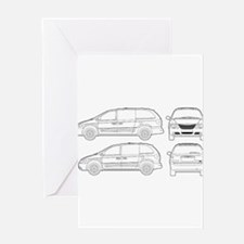 Chrysler Voyager Greeting Card