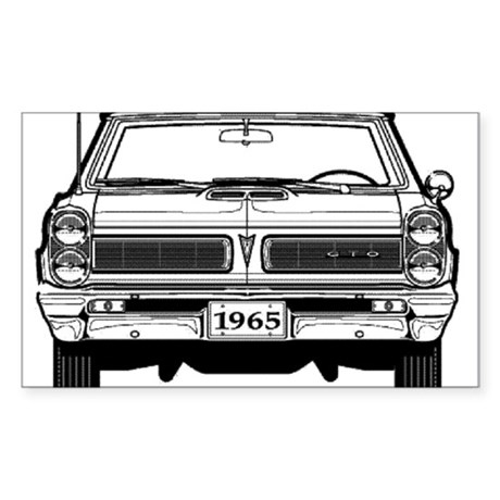 Pontiac GTO Rectangle Sticker 10 pk)