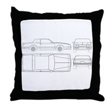 Chevy Monte Carlo Throw Pillow
