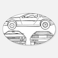 DeLorein Oval Decal
