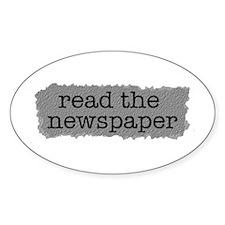 Read the paper Oval Sticker (50 pk)