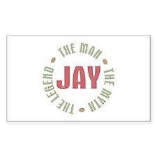 Jay Man Myth Legend Rectangle Decal