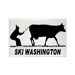 Ski Washington Rectangle Magnet
