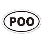 POO Euro Oval Sticker