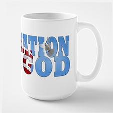 """""""One Nation Under God"""" Large Mug"""