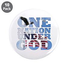 """One Nation Under God"" 3.5"" Button"
