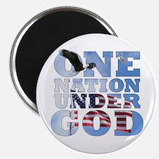 """""""One Nation Under God"""" 2.25"""" Magnet"""
