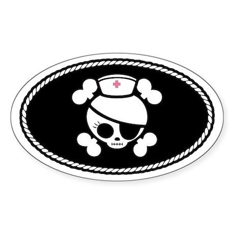 Nurse Molly III Sticker (Oval)