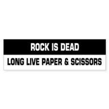 Rock is Dead Bumper Bumper Sticker