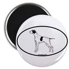 German Pointer Oval Magnet