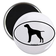 German Pointer Silhouette Magnet