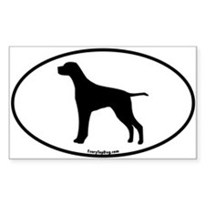 German Pointer Silhouette Rectangle Decal
