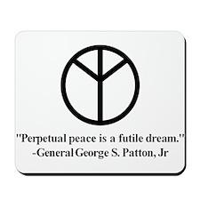 Patton on Peace Mousepad