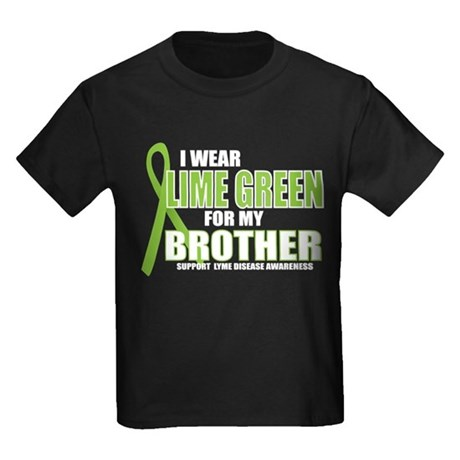 LD: Lime Green For Brother Kids Dark T-Shirt