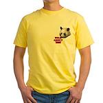 Panda Lover Yellow T-Shirt