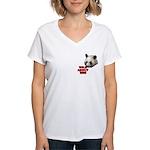 Panda Lover Women's V-Neck T-Shirt