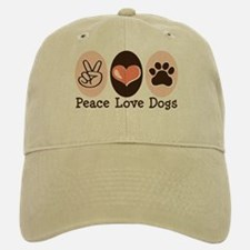 Peace Love Dogs Baseball Baseball Cap