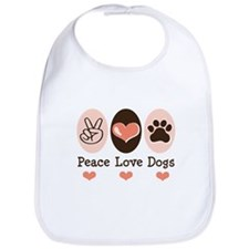 Peace Love Dogs Bib