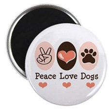 """Peace Love Dogs 2.25"""" Magnet (10 pack)"""