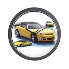 Yellow Saturn Sky Wall Clock