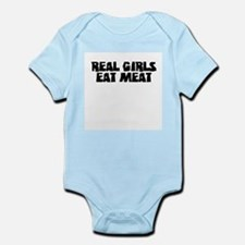 """Real Girls Eat Meat"" Infant Bodysuit"