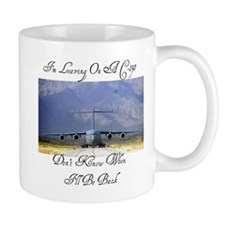 On A C-130 Small Mug