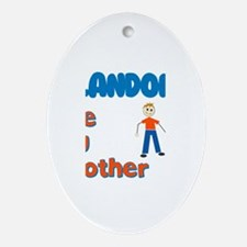 Landon - The Big Brother Oval Ornament