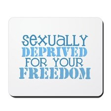 Sexually Deprived - blue Mousepad
