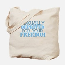 Sexually Deprived - blue Tote Bag