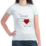 My heart is bleeding love Jr. Ringer T-Shirt