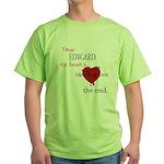 My heart is bleeding love Green T-Shirt