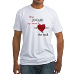 My heart is bleeding love Fitted T-Shirt