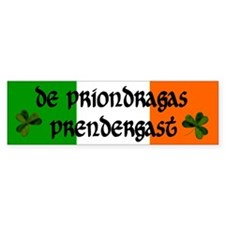 Prendergast in Irish and English Bumper Bumper Sticker