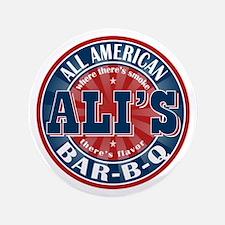 """Ali's All American BBQ 3.5"""" Button"""