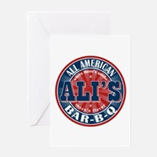 Ali's All American BBQ Greeting Card