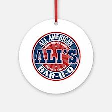 Ali's All American BBQ Ornament (Round)