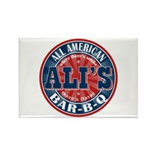 Ali's All American BBQ Rectangle Magnet