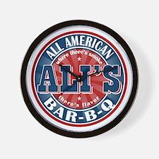 Ali's All American BBQ Wall Clock