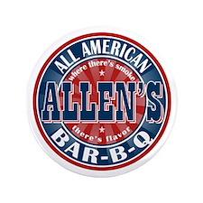 "Allen's All American BBQ 3.5"" Button"