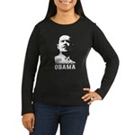 OBAMA Stencil Women's Long Sleeve Dark T-Shirt
