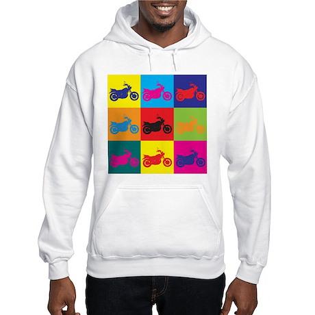 Biking Pop Art Hooded Sweatshirt