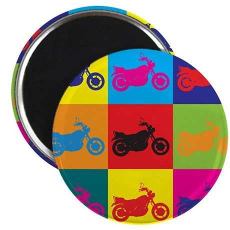 "Biking Pop Art 2.25"" Magnet (100 pack)"