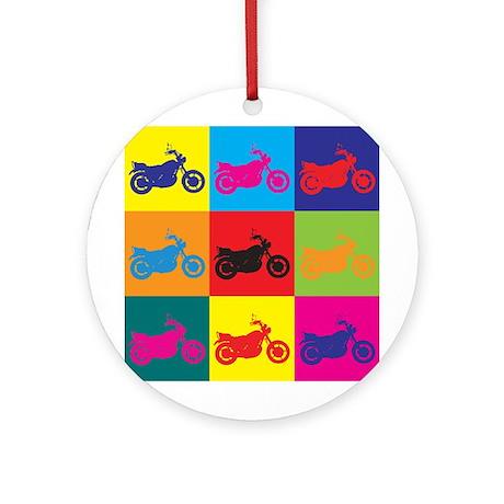 Biking Pop Art Ornament (Round)