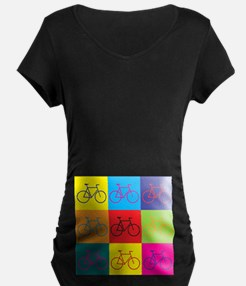 Bicycling Pop Art T-Shirt